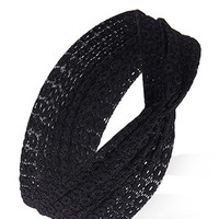 Circle-Patterned Lace Headwrap