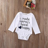 Newborn Baby Clothes Toddler Girls Boys Jumpsuit Bodysuit Outfits