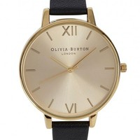 Olivia Burton Big Dial gold plated watch