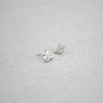 925 sterling silver cute mouse earrings, a perfect gift !
