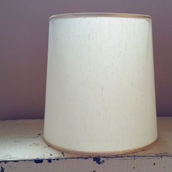 White Drum Shape 12 Inch  Lampshade Fiberglass Lamp Shade