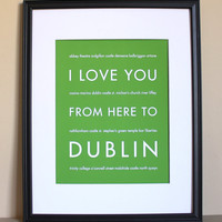 Dublin Art Print, 8x10 on Luulla