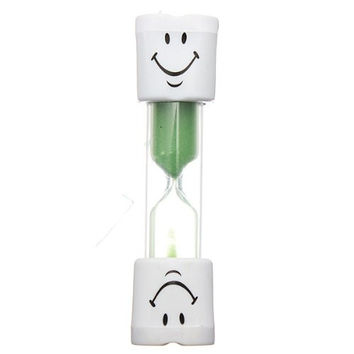 FJS!Toothbrush Timer Hourglass Kids Smiley Sand Egg 3 Minutes 1pcs