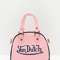 Von Dutch Light Pink Bowling Bag Purse | Zumiez