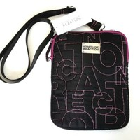 Kenneth Cole Reaction ipad bag Messenger Bag ipad Case Tablet Case Black Fuchsia