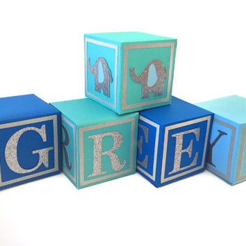 Alphabet Blocks - Baby Shower Centerpiece - Nursery Blocks - Baby Blocks