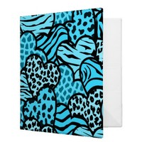 Blue Wild hearts Binder