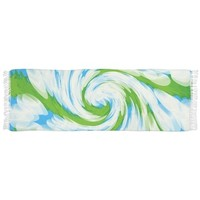 Groovy Turquoise Blue Swirl Abstract Scarf