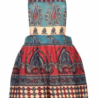 MIXED PRINT DUNGAREES BY BAND OF GYPSIES