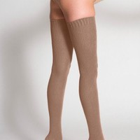 Cotton Solid Thigh-High Sock | American Apparel