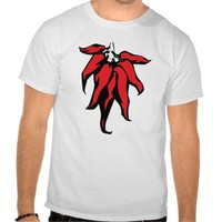 Red Chili Peppers On a String Graphic Tee Shirts