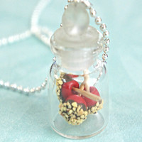 candy apples in a jar necklace