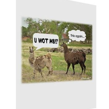 Angry Standing Llamas Matte Poster Print Portrait - Choose Size by TooLoud
