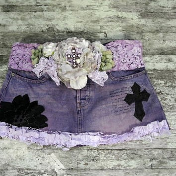 Ombre Mini skirt Gypsy Cowgirl Abercrombie by TrueRebelClothing