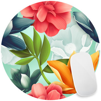 Hawaiian Blooms Mouse Pad Decal