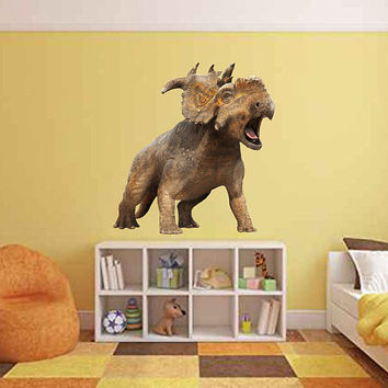 dinosaur wall Decals Pachyrhinosaurus wall Decals dinosaur wall decor dinosaur Full Color wall Decals for Boy's Room for kids cik2252