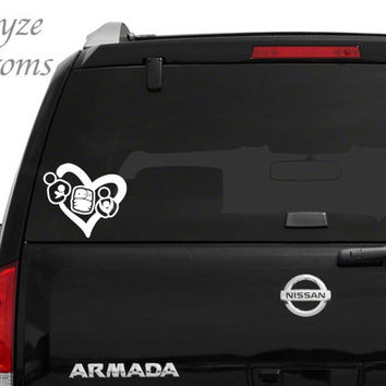 Breastfeeding, Cloth Diapering, Babywearing Heart / Car or Computer vinyl decal / Please put color choice in note to seller.