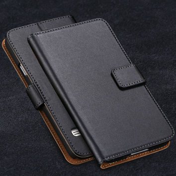 S5 Flip Leather Case Luxury Wallet Cover for Samsung Galaxy S5 SV i9600 Full Protect Cell Phone Bag Genuine Leather Carry Case