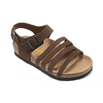 Birkenstock Almeria Sandals Suede Chocolate - Ready Stock