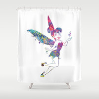 Tinker Bell Shower Curtain by Bitter Moon