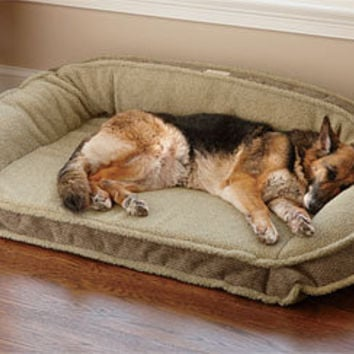 Fleece Memory Foam Dog Bed / Fleece-Lined Deep Dish Dog Bed with Memory Foam -- Orvis