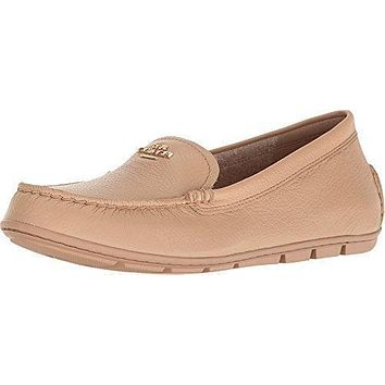 4b97c37e6 Coach Mary Lock Up Women Round Toe Leather Nude Flats