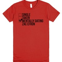 Mentally Dating Zac Efron-Female Red T-Shirt