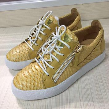 Giuseppe Zanotti Men's May London Leather Fashion Low Top Sneakers Shoes