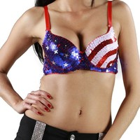 Afterpink Sexy Night life Flag fashion Bra Top