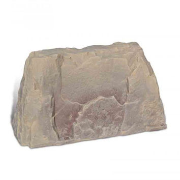 "Fake Rock Artificial Stone Backflow and Water Pump Cover 110 (Sandstone) (21""H x 21""W x 39""D)"
