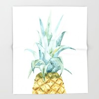 Pineapple Topper Throw Blanket by All Is One