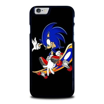 sonic the hedgehog skateboard iphone 6 6s case cover  number 1