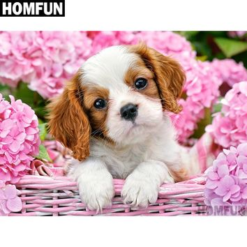 5D Diamond Painting Cavalier King Charles Spaniel Puppy Kit