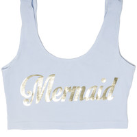 Mermaid Pastel BLue Bralet