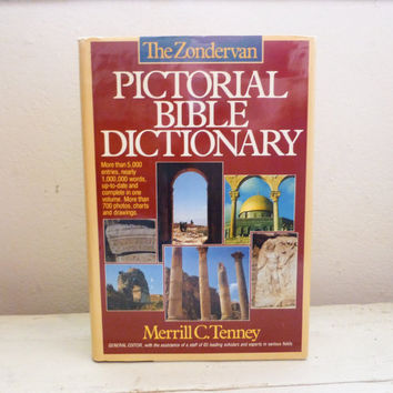 Pictorial Bible Dictionary, Zondervan Dictionary, Reference book, Bible scholar, college gift, study guide, history book, ancient history
