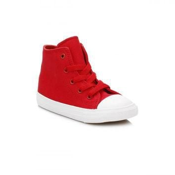 Converse All Star Chuck Taylor II Infant Salsa Red/White Trainers