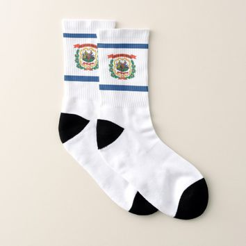 All Over Print Socks with Flag of West Virginia