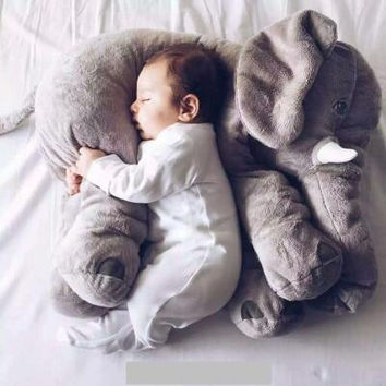 1pcs 60cm INS Elephant Soft Pillows Baby Sleeping Pillow Stuffed Elephant Comforter Plush Animal Cushion Best Gift For Kids
