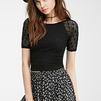 Diamond-Patterned Crop Top