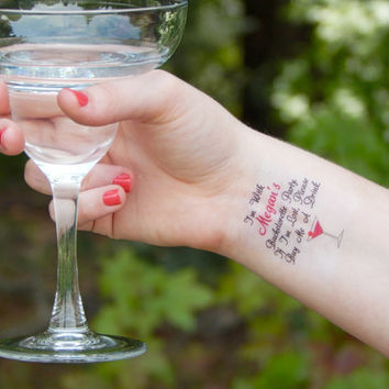 10 Bachelorette Tattoos - Bachelorette Party Temporary Tattoos - If I'm Lost, Please Buy Me A Drink