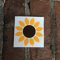 Sunflower Decal | Yeti Decal | Macbook Decal | Car Decal