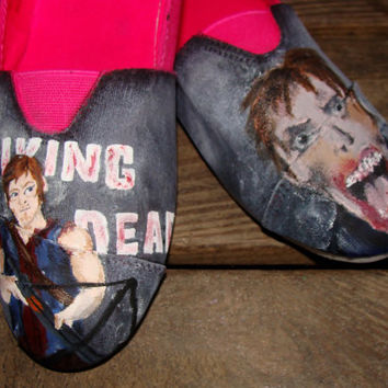 The Walking Dead Hand-painted canvas shoes (Daryl)