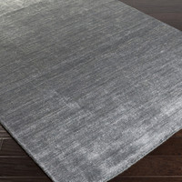 Haize Area Rug | Gray Solids and Borders Rugs Hand Woven | Style HAZ6010