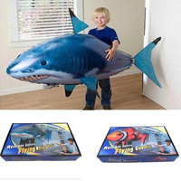 Remote Control Toys Kids Air Swimming Fish Shark Toys Sky Swimmers Air Swimmers Children's Gift [9145171782]