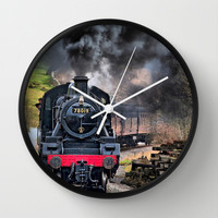 78019 Steam Train Wall Clock by Karl Wilson Photography