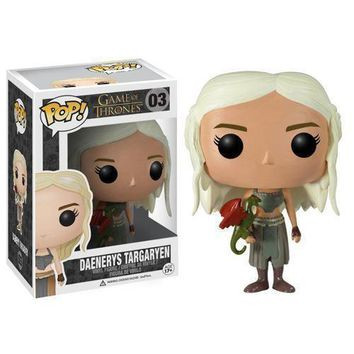 Funko Pop Vinyl Action Figure Game of Thrones Daenerys Jon Snow Wolf Toy Gift US