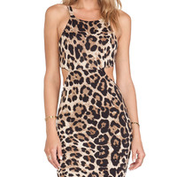Nookie Beach Wild One Cutout Mini Dress in Brown