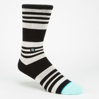 Stance Alfa Mens Athletic Socks Black Combo One Size For Men 25223314901