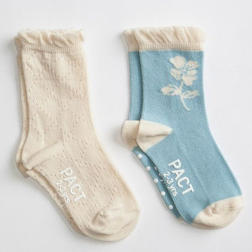 Socks - 2pk - Mist/Cream