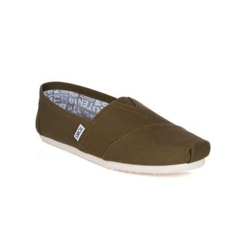 Toms Military Olive Canvas Espadrilles